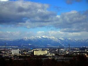 琵琶湖の雪