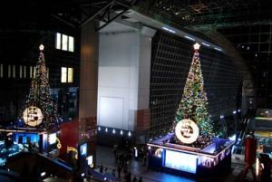 京都駅のクリスマスツリー