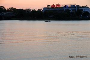 フォーン川夕景